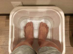 足湯って気持ちがいい~